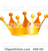 Vector Crown Clipart by Pushkin