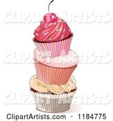 Vector Cupcake Clipart by Pushkin