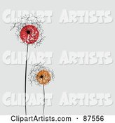 Vector Dandelion Clipart by Leonid