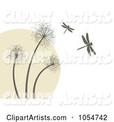 Vector Dandelion Clipart by Vectorace