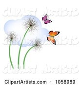 Vector Dandelions Clipart by Vectorace