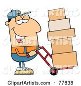 Vector Delivery Man Clipart by Hit Toon