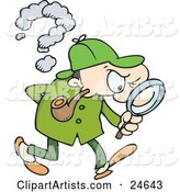 Vector Detective Clipart by Gnurf