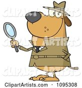 Vector Detective Clipart by Hit Toon