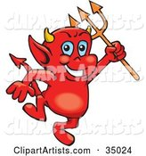Vector Devil Clipart by Dennis Holmes Designs