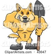 Vector Dingo Clipart by Dennis Holmes Designs