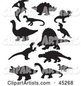 Vector Dinosaur Silhouette Clipart by JR