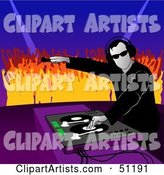Vector Dj Clipart by Dero