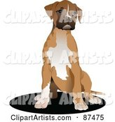 Vector Dog Clipart by Leonid