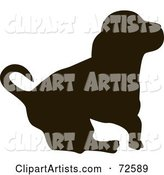 Vector Dog Silhouette Clipart by Pauloribau