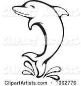 Vector Dolphin Clipart by Any Vector