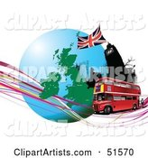 Vector Double Decker Clipart by Leonid