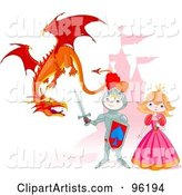 Vector Dragon Clipart by Pushkin