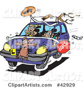 Vector Driving Clipart by Dennis Holmes Designs
