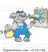 Vector Elephant Clipart by LaffToon