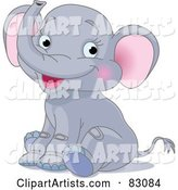 Vector Elephant Clipart by Pushkin