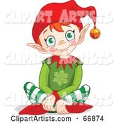 Vector Elf Clipart by Pushkin