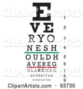 Vector Eye Chart Clipart by Arena Creative