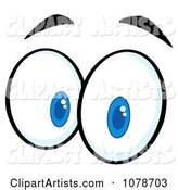 Vector Eyes Clipart by Hit Toon