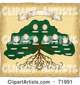 Vector Family Tree Clipart by Inkgraphics