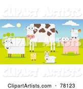 Vector Farm Animals Clipart by Qiun
