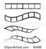 Vector Film Strip Clipart by TA Images