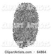 Vector Fingerprint Clipart by Frog974