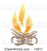 Vector Fire Clipart by Rasmussen Images