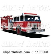 Vector Fire Engine Clipart by Leonid