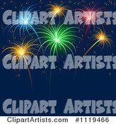 Vector Fireworks Clipart by Dero