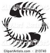 Vector Fish Bones Clipart by Visekart