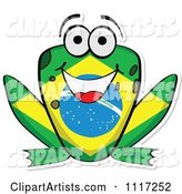 Vector Flag Frog Clipart by Andrei Marincas