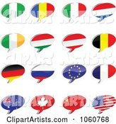 Vector Flags Clipart by Andrei Marincas