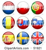 Vector Flags Clipart by Dero