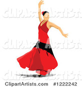 Vector Flamenco Clipart by Leonid