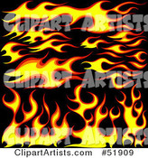 Vector Flames Clipart by Dero