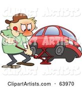 Vector Flat Tire Clipart by Gnurf