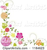 Vector Floral Background Clipart by Dero