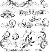 Vector Floral Elements Clipart by OnFocusMedia