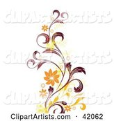 Vector Flowers Clipart by L2studio