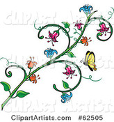 Vector Flowers Clipart by Rogue Design and Image