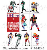 Vector Football Clipart by Leonid