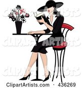 Vector French Woman Clipart by Rogue Design and Image