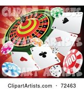 Vector Gambling Clipart by Cidepix