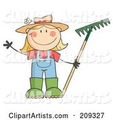 Vector Gardening Clipart by Hit Toon