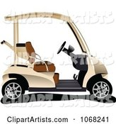 Vector Golf Cart Clipart by Leonid