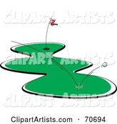 Vector Golfing Clipart by Jtoons