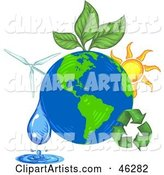 Vector Green Energy Clipart by Tonis Pan