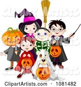 Vector Halloween Clipart by Pushkin
