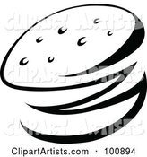 Vector Hamburger Clipart by Cidepix